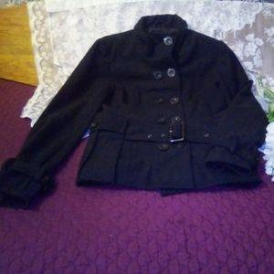 New Look Navy Blue Pea Coat with belt